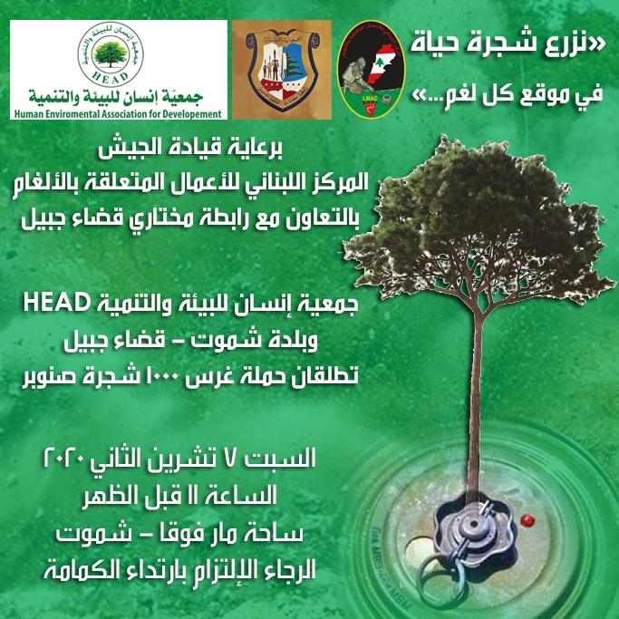 نزرع شجرة حياة في موقع كل لغم...